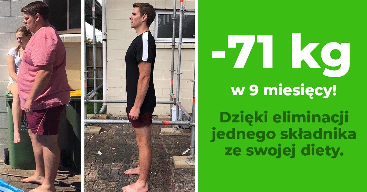 Schudł 71 kg w 9 miesięcy wyrzucając jeden składnik ze swojej diety. Zobacz jaki!