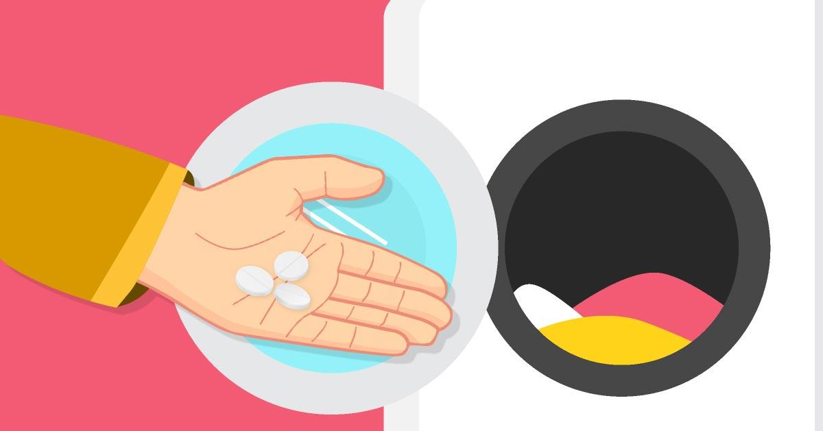 Domowy sposób na wybielenie ubrań za pomocą aspiryny