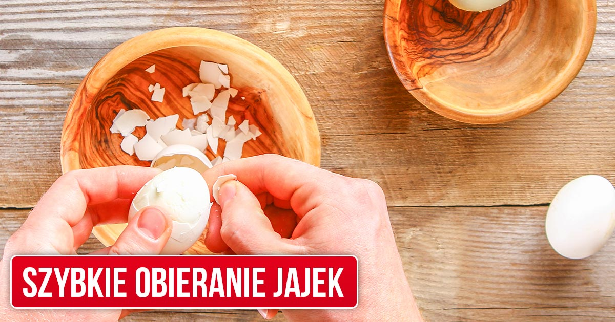 Jak szybko obrać jajko? Szybki trik, który musisz znać!