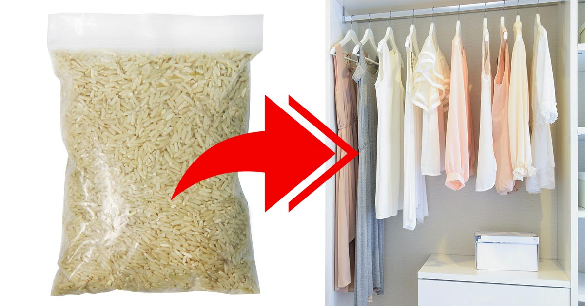 Zobacz dlaczego wiele osób chowa w szafie woreczek ryżu