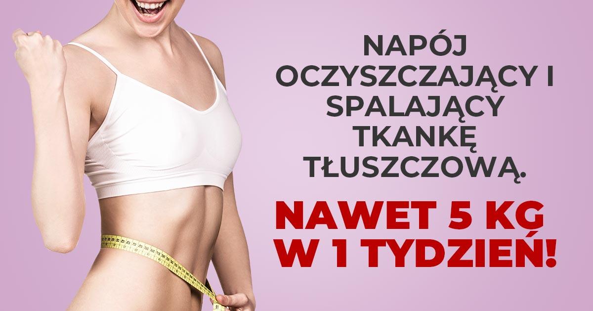 Napój oczyszczający i spalający tkankę tłuszczową – nawet 5 kg w 1 tydzień!