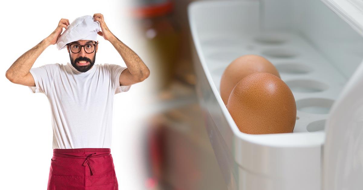 Zobacz dlaczego nie przechowywać jajek na drzwiach lodówki!