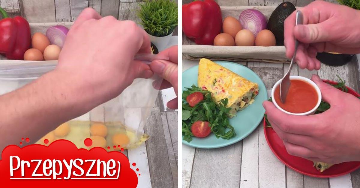 Poznaj przepis na omlet z woreczka. Szybko i wygodnie, bez sprzątania!