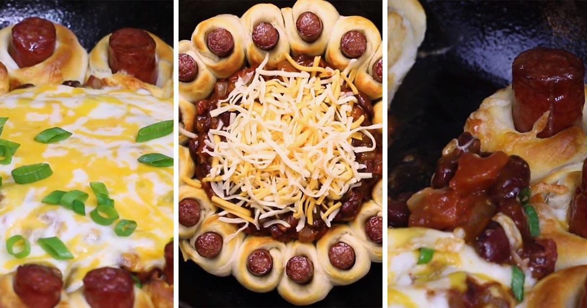 Przepis na imprezową przekąskę z parówek i ciasta do pizzy