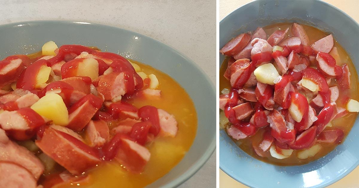 Przepis na szybkie jednogarnkowe danie obiadowe z ziemniakami i kiełbasą