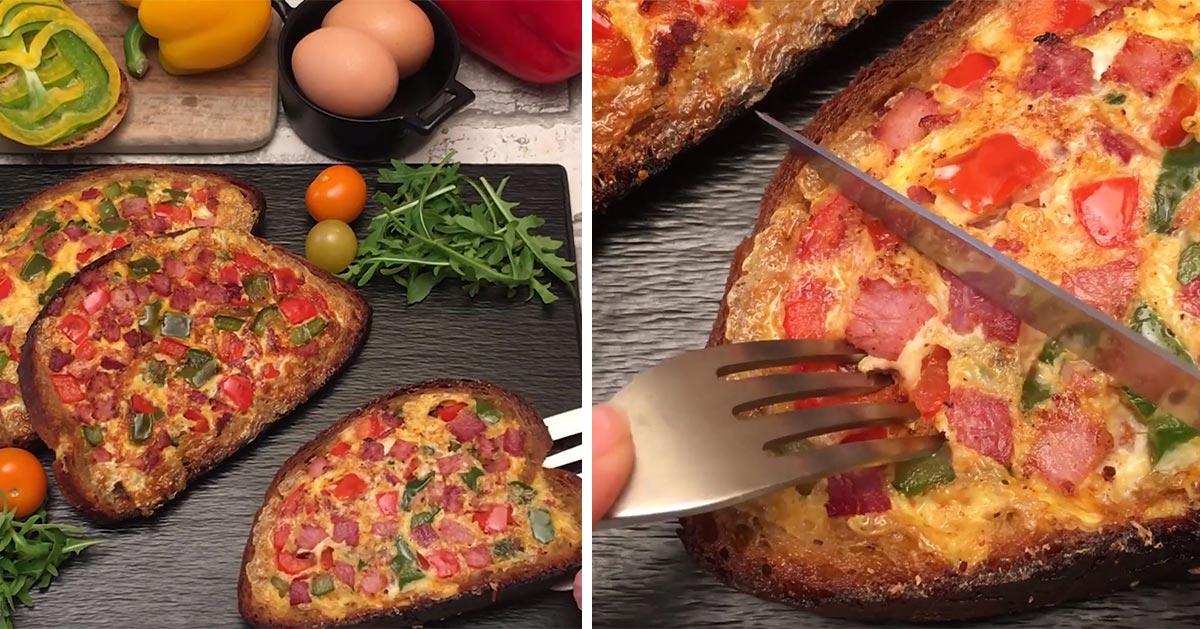 Takiego tosta jeszcze nie jedliście. Pomysł na pyszne śniadanie!