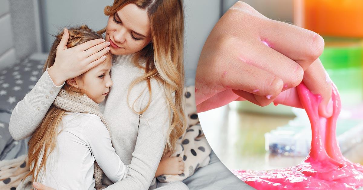 Robisz z dzieckiem slime z przepisu na YouTube? Przez to jej dziecko miało problemy z oddychaniem!