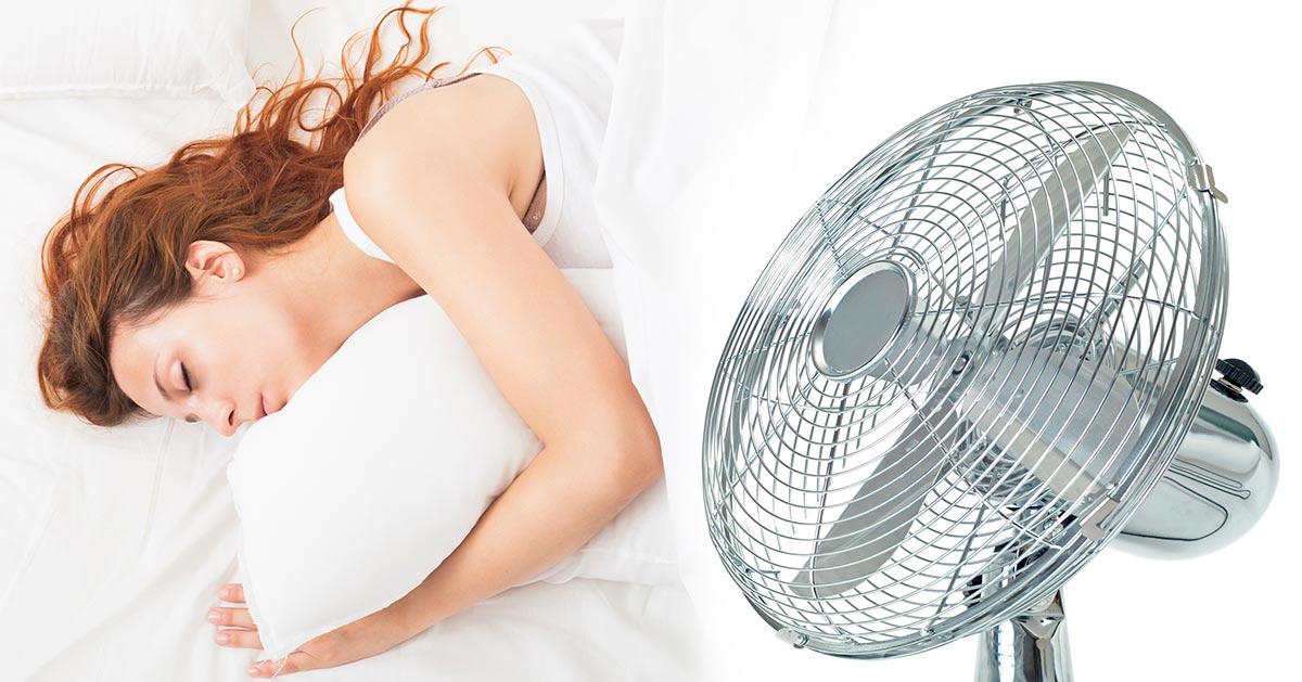 Śpisz przy włączonym wiatraku? Lepiej go wyłącz!
