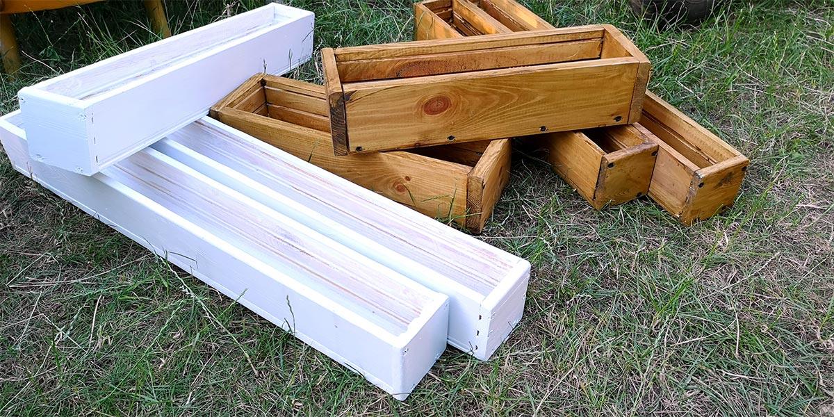 Doniczki drewniane DIY