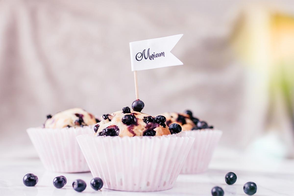 Jogurtowe muffinki z jagodami {proste i pyszne}