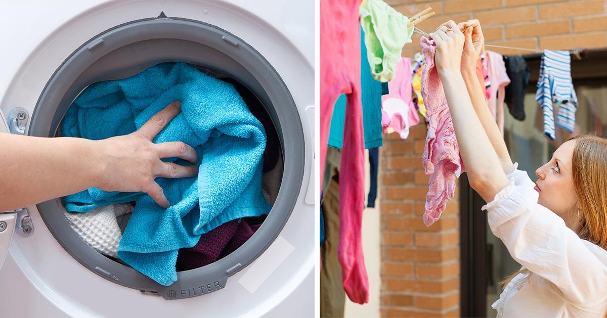 Lepiej suszyć pranie w suszarce czy na powietrzu?