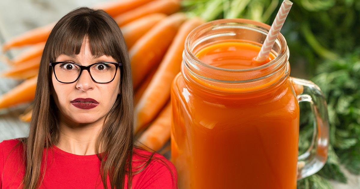 Lubisz sok z marchwi? Lepiej nie pić go codziennie!