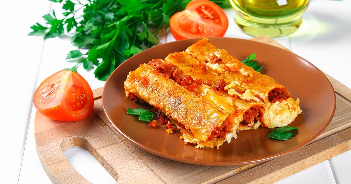 Cannelloni bolognese – czyli rurki z sosem bolońskim