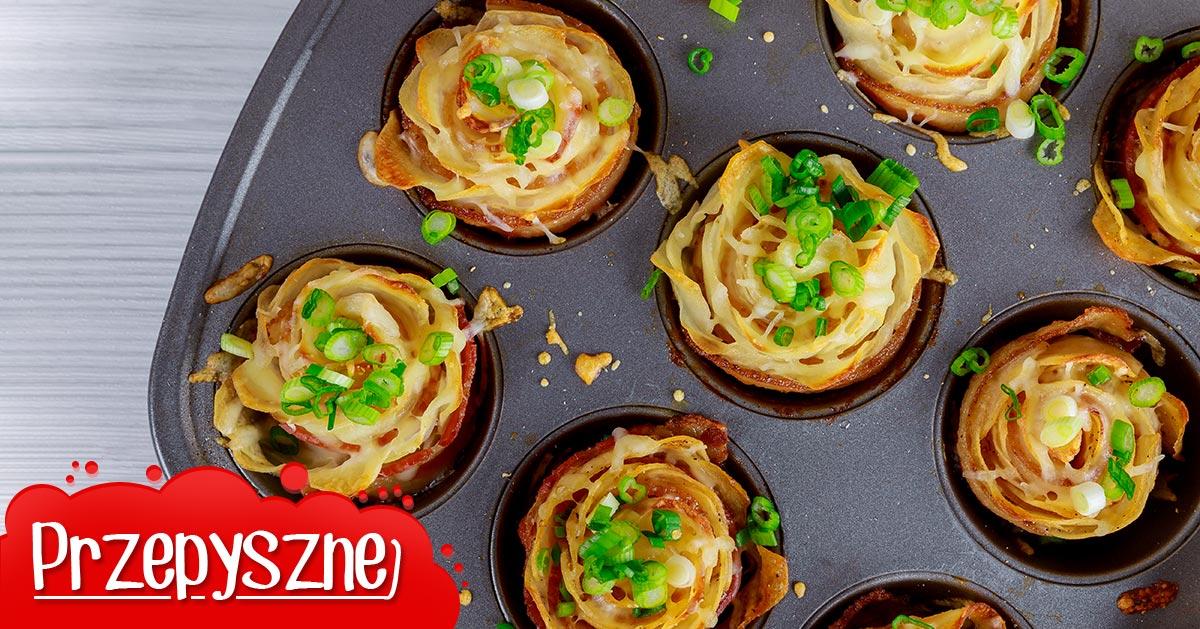 Chrupiące różyczki z ziemniaków i boczku – imprezowa przekąska!