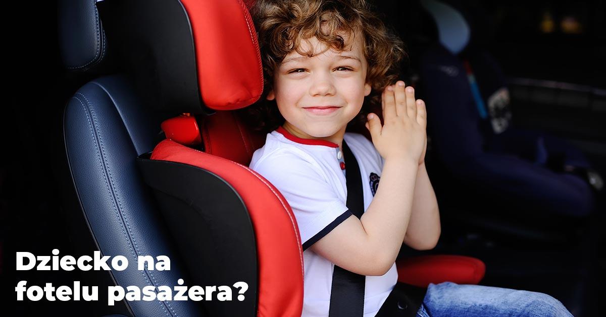 Czy można wozić dzieci na przednim fotelu?