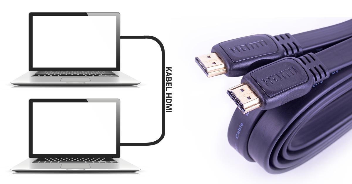 Połączenie dwóch laptopów kablem HDMI