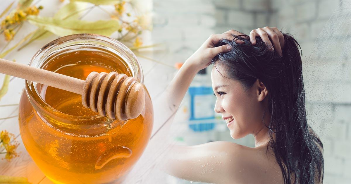 Wzmacniająca maseczka do włosów na bazie miodu