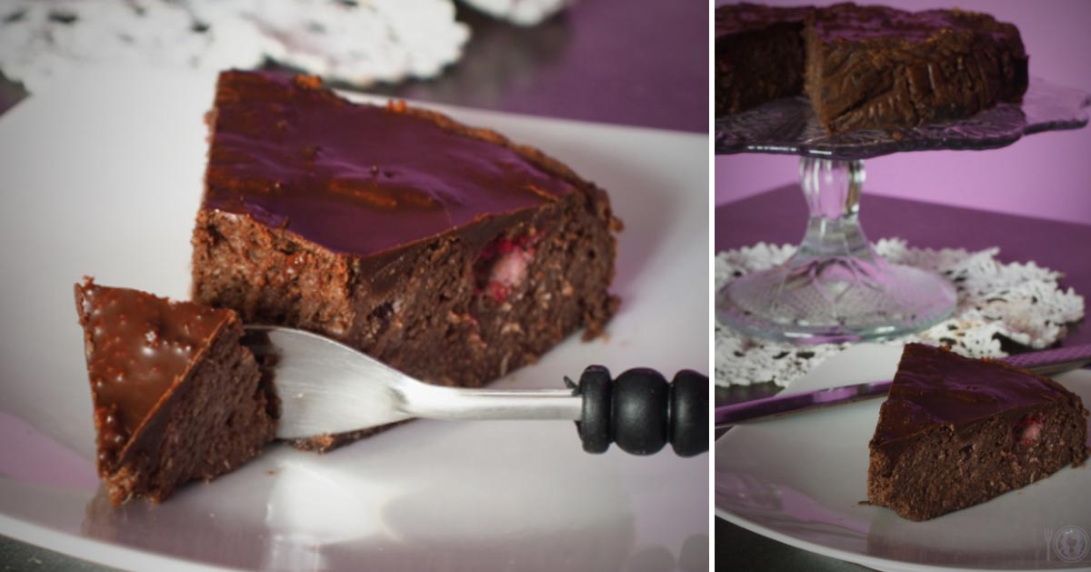 Keto pseudosernik czekoladowo- wiśniowy (Paleo, LowCarb)