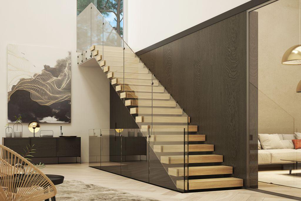 Jakie wybrać najmodniejsze schody do wnętrza?