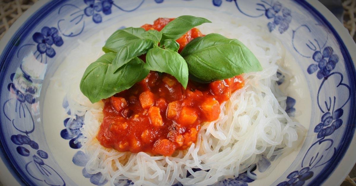 Keto spaghetti all'amatriciana (Paleo, LowCarb)