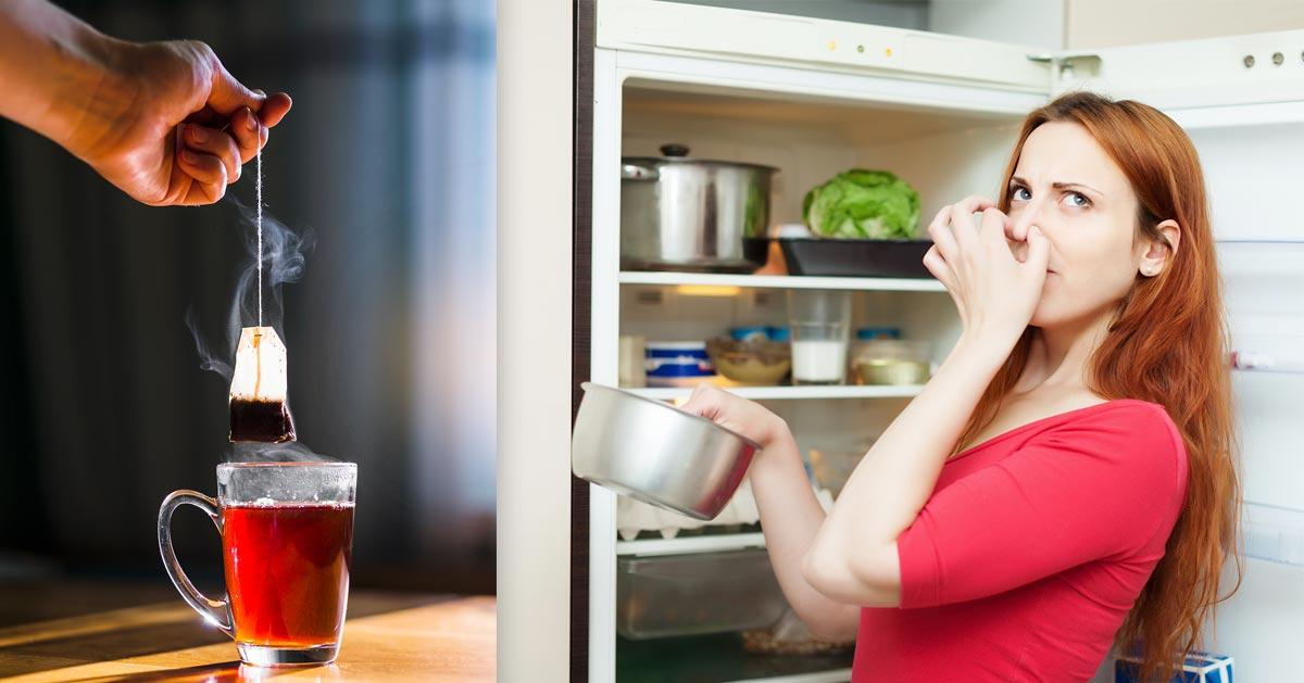 Jak usunąć brzydkie zapachy z lodówki? Użyj torebki herbaty!