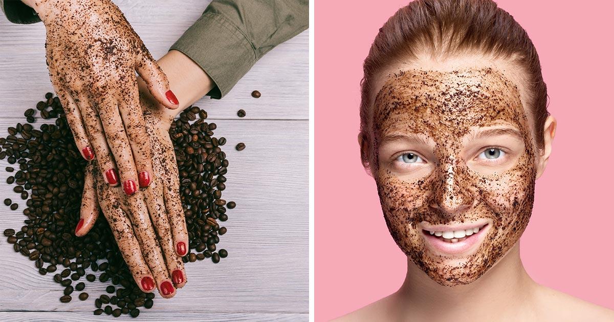 Peeling z fusów po kawie, który ujędrni skórę