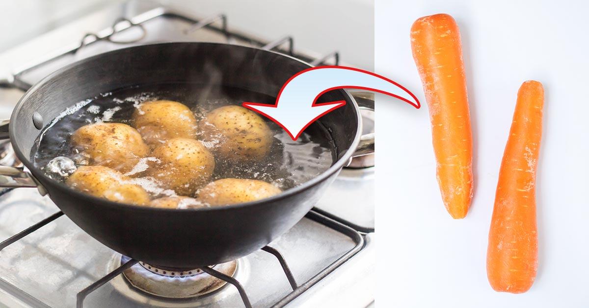 Dlaczego warto gotować ziemniaki wraz z marchewką?