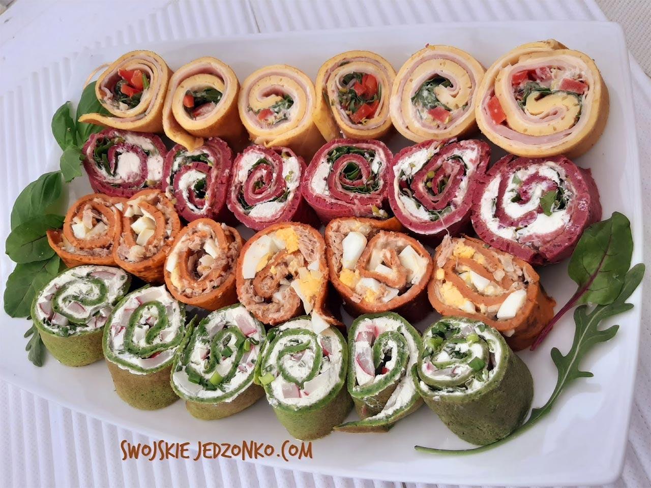 Roladki naleśnikowe w 4 kolorach i smakach