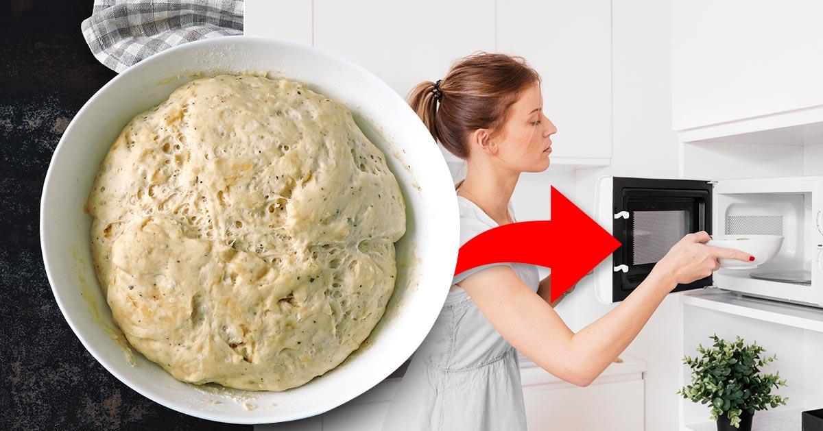 Genialne – ciasto do wyrośnięcia włóż do mikrofalówki!