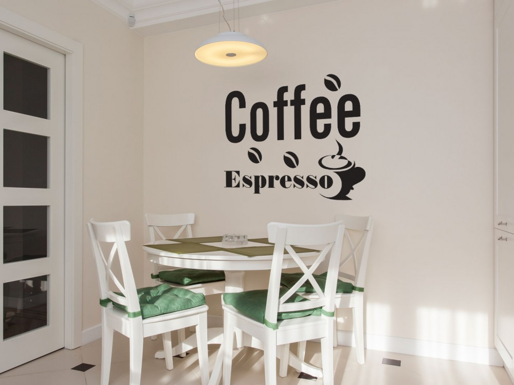 Naklejka z napisem kawa