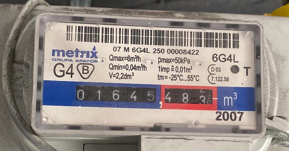 Jak odczytać stan licznika gazowego