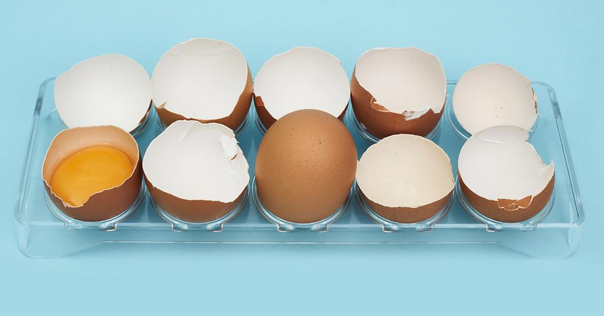 3 powody, dla których nie powinnaś wyrzucać skorupek jaj