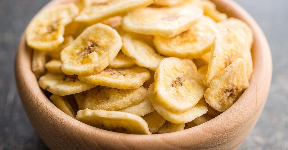 Domowe chipsy z bananów