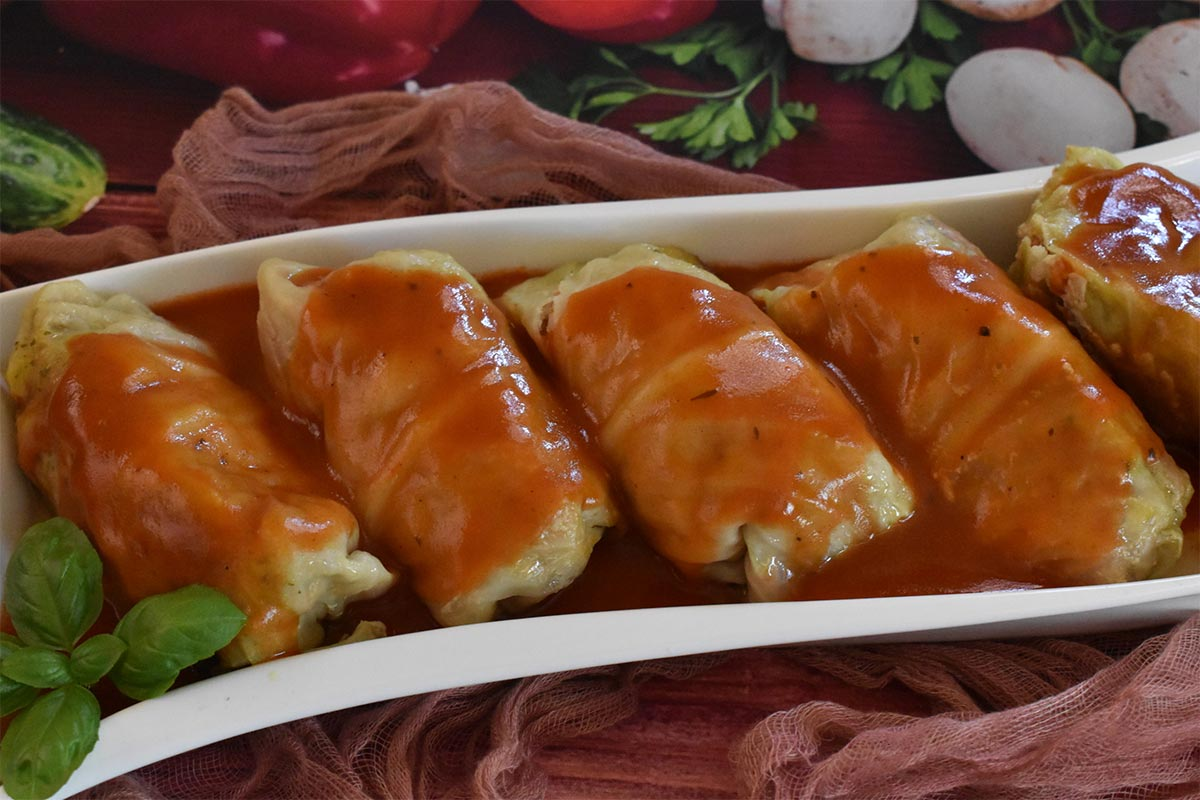 Gołąbki z piekarnika z warzywami