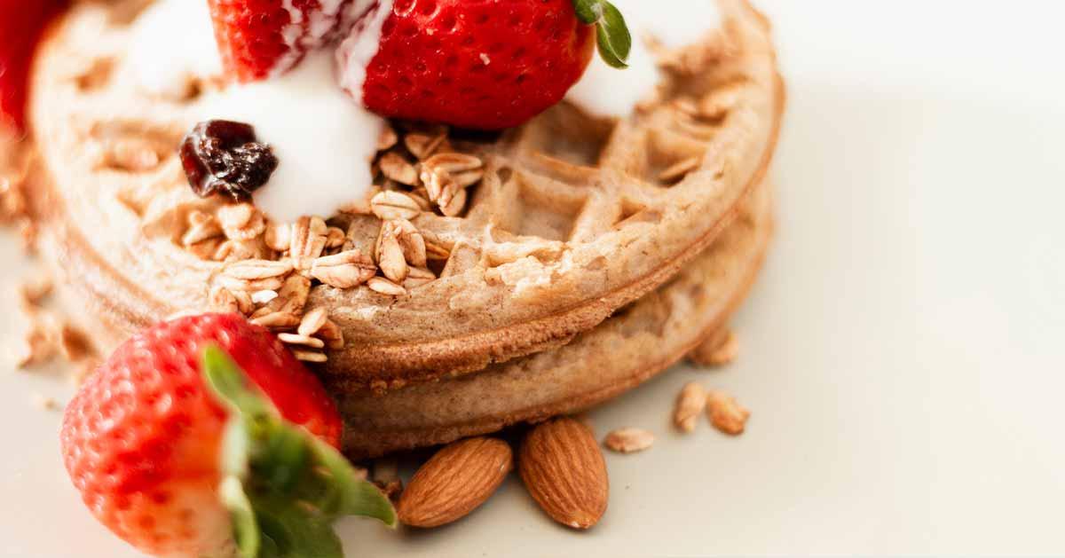 Dietetyczne gofry z mąki owsianej