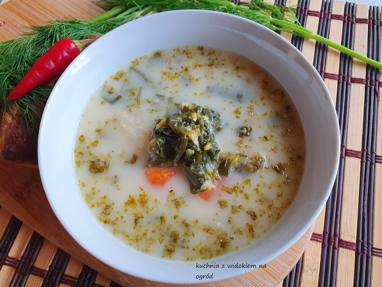 Zupa szpinakowo brokułowa