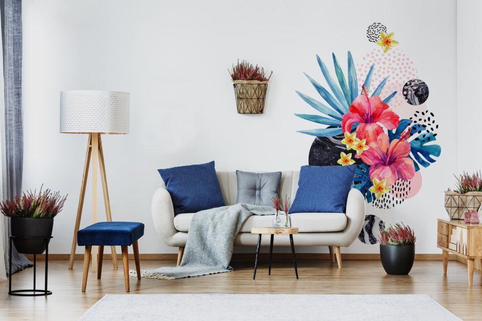 Plakat tropikalne kwiaty