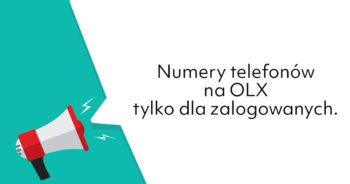 OLX wprowadza telefony tylko dla zalogowanych