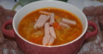 Zupa Kapuściana z szynką